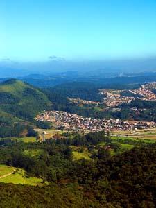 Vista do Pico do Jaraguá - linha de poluição